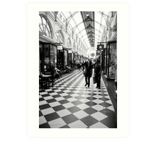 chequered Art Print