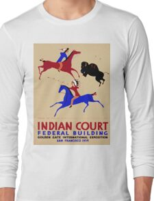 Vintage poster - Indian Court Federal Building Long Sleeve T-Shirt