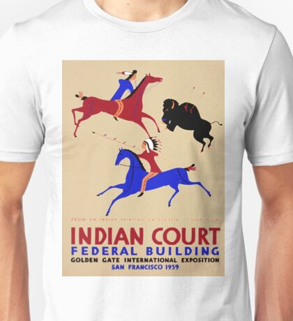 Vintage poster - Indian Court Federal Building Unisex T-Shirt