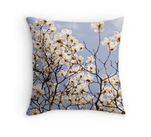 Cherry Blossom of Obuse Throw Pillow