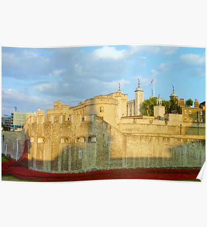 Blood Filled Moat - Tower of London Poster