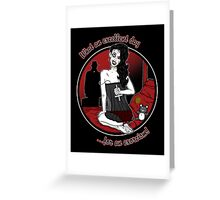 Hell's Belle Greeting Card