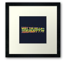 One Point Twenty One Framed Print