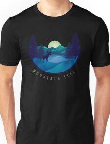 Mountain Life Minimal Landscape Unisex T-Shirt