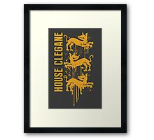 Clegane House Game of Thrones Shirt Framed Print