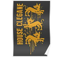 Clegane House Game of Thrones Shirt Poster