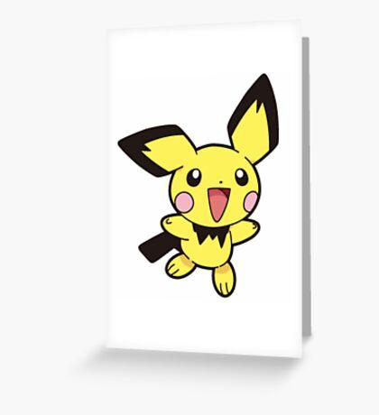 Pokemon - pichu Greeting Card