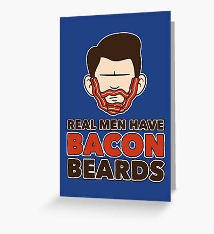 Bacon Beard (men's version) Greeting Card
