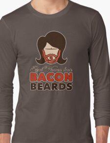 Bacon Beard (women's version) Long Sleeve T-Shirt