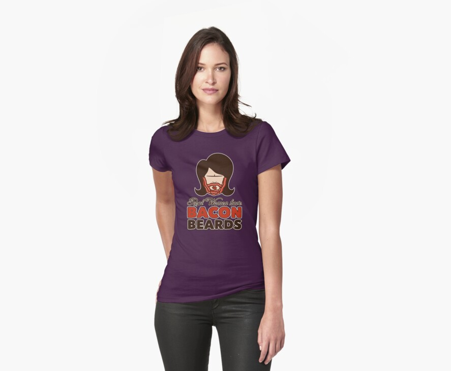 Bacon Beard (women's version) by mikehandyart