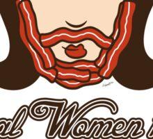 Bacon Beard (women's version) Sticker