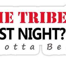 did The Tribe win last night? Cleveland Indians Sticker