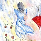 She was to busy singing in the rain to stop and smell the roses... by Robin Monroe