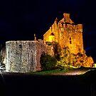 Eilean Donan Castle at night by JamesA1