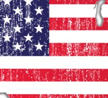 USA Map Flag Sticker