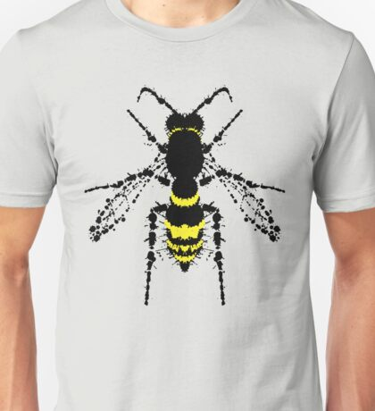 Wasp - Silhouette painted by blots and splatters Unisex T-Shirt
