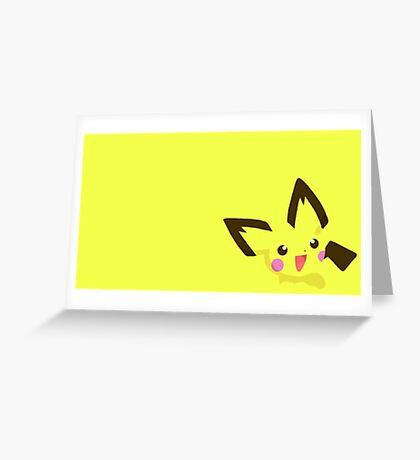 Pokemon - pichu cute Greeting Card