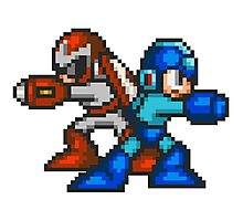 Megaman And Protoman Photographic Print