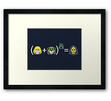 He-Math Framed Print