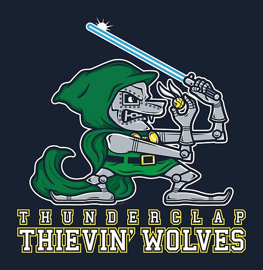Thunderclap Thievin' Wolves by mikehandyart