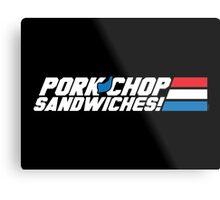 Pork Chop Sandwiches! Metal Print