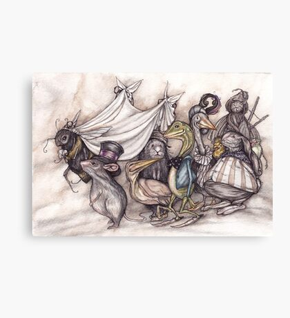 the mouse has married the humble bee Canvas Print