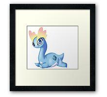 Pokemon - Amaura cute Framed Print