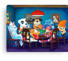 Video Game Dogs Playing Poker Canvas Print