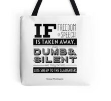 Dumb and Silent Tote Bag