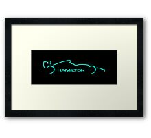 Lewis Hamilton Wall Art 4A Framed Print