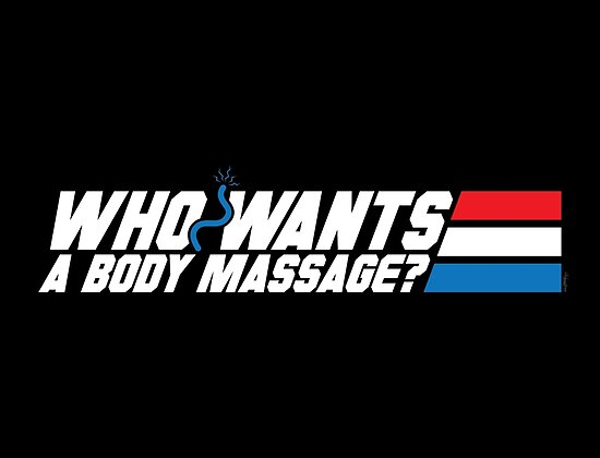 Who Wants a Body Massage? by mikehandyart
