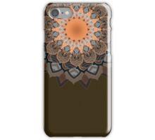 Brown and Grey Mandala iPhone Case/Skin