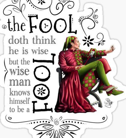 David Tennant Shakespeare Touchstone Quote Art Sticker