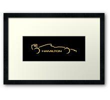Lewis Hamilton Wall Art 4B Framed Print