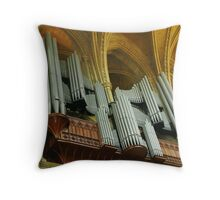 Organ Pipes, Truro Cathedral Throw Pillow