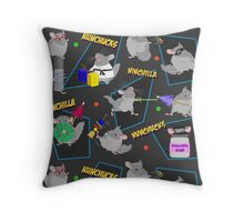 NinChilla Nunchucks In Ash Grey Throw Pillow