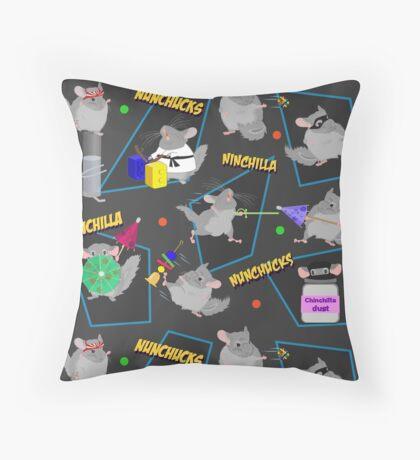 NinChilla Nunchucks In Ash Grey Throw Pillow