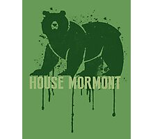Mormont House Game of Thrones Shirt Photographic Print