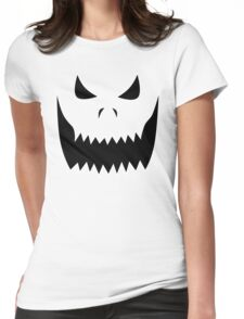 Scary Jack O'Lantern Face Womens Fitted T-Shirt