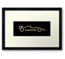Lewis Hamilton Wall Art 5B Framed Print