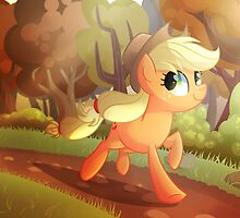Applejack- Running Of The Leaves by Left2Fail