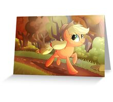 Applejack- Running Of The Leaves Greeting Card
