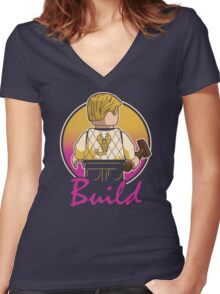A Real Mini Hero Women's Fitted V-Neck T-Shirt