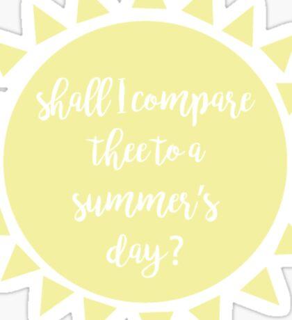 a summer's day  Sticker