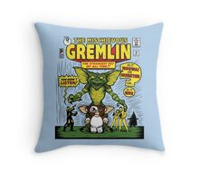 The Mischievous Gremlin Throw Pillow