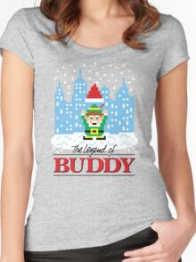 The Legend of Buddy Women's Fitted Scoop T-Shirt