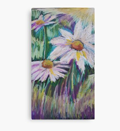 Oil Daisies Canvas Print