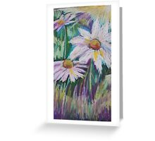 Oil Daisies Greeting Card