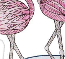 pair of flamingos Sticker
