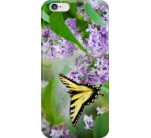 Swallowtail Butterfly on Lilacs iPhone Case/Skin